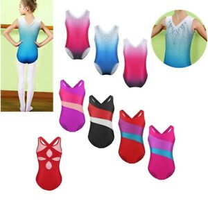 Shiny-Gymnastics-Leotards-Athletic-Ballet-Dance-Unitard-For-Little-Girls-2-14-Y