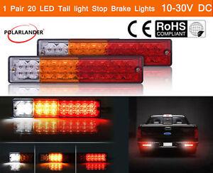 2x-20-LED-12V-24V-Luz-de-la-Cola-Coche-Camion-Trailer-Barco-Freno-Inverso-Giro