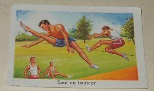 Ancienne-Image-du-type-Bon-Point-SAUT-en-HAUTEUR-Sport-EDITIONS-EDUCATIVES