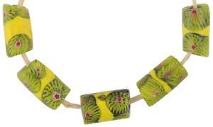 African-trade-beads-banded-old-Millefiori-Venetian-glass-beads-Murano-mosaic