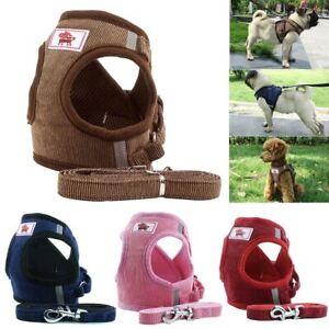 Dog-Harness-Vest-Adjustable-Pet-Puppy-Walking-Training-Lead-Leash
