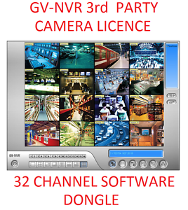 Details about Geovision 16 or 32Ch GV-NVR Software Dongle Licence 3rd Party  IP Camera