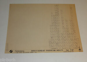 Microfich-Catalogo-de-Piezas-de-Repuesto-BMW-R-100-Rs-87-R-100st-88-Stand