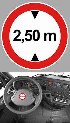 Automobilia Hauteur Limite 2,50 M Camion Truck Iveco Man Van Caravane 5cm Sticker Hb001 Auto, Moto – Pièces, Accessoires
