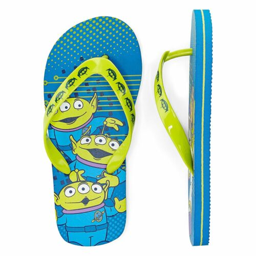 Disney Boys Flip Flops Toy Story Buzz Lightyear Alien 9//10 2//3 NEW 11//12 13//1