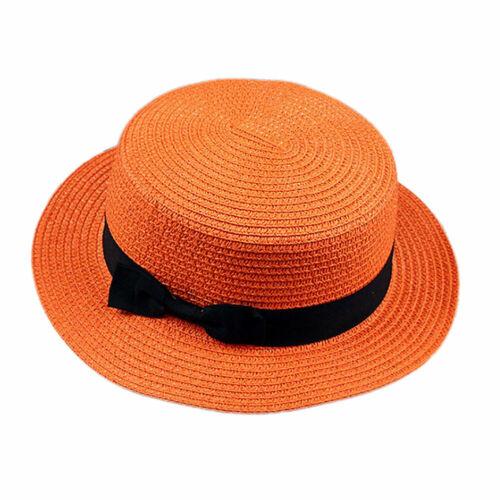 Herren Damen Kind Panamahut Strohhut Trilby Gartenhut Sommerhut Strandhut Mütze