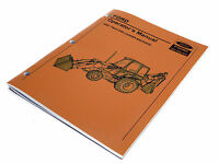 Ford 455c Tractor Loader Backhoe Operators Manual Maintenance Guide Book