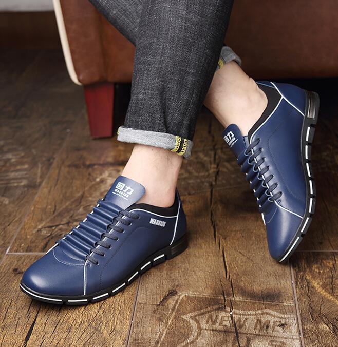 Nuevo Para Hombre de Cuero con Cordones Al Aire Libre transpirables Zapatos Casuales Atléticas huecos