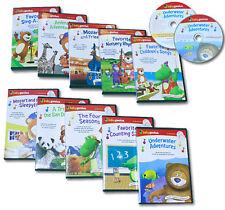 New Sealed Baby Genius Set 10 DVDs + 10 CDs Baby Genius Bilingual Set Spanish +