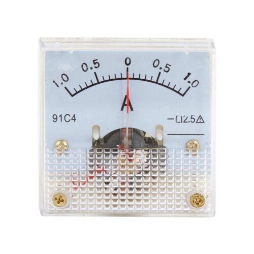 Klasse 2,5 Genauigkeit DC 0–1 A Ampere Analog Panel Meter Ammeter 91C4 B5E8