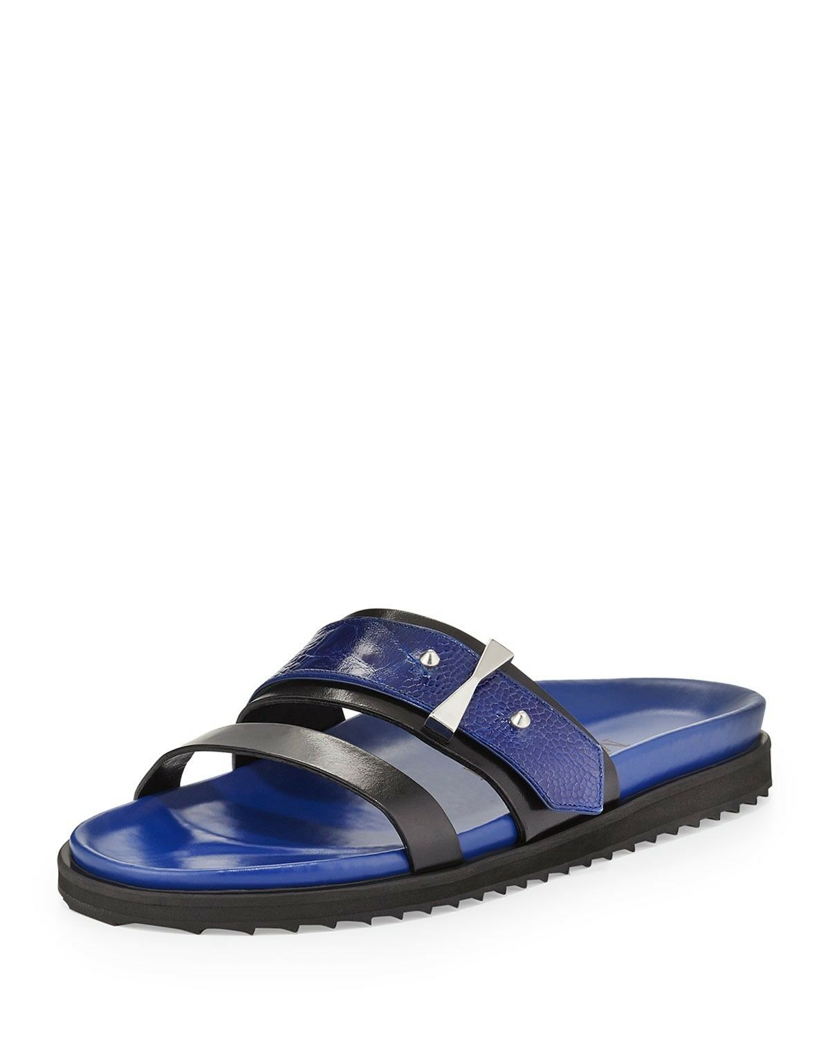 migliore offerta Alexander mcqueen donna blu and and and nero Dimensione 6 new with box studded flats  Senza tasse