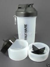 TrueWare Awesome 3 in 1 Shaker Plastic Protein Bottle,Milk Shake,700ml,Assorted