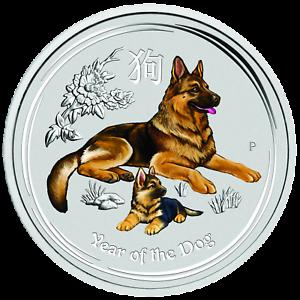 2018-Australia-colorized-Lunar-Year-of-the-Dog-1-4-oz-Silver-Bullion-Coin
