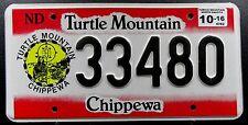USA Nummernschild Turtle Mountain Chippewa Indianerschild mit Wappen. 13434.