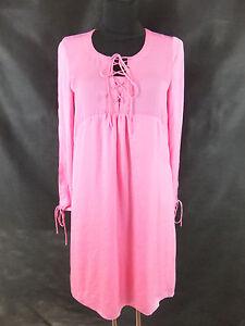 Wunderschoenes-Kleid-40-L-pink-rosa-Tunikakleid-Sommerkleid-Boho-ein-Traum