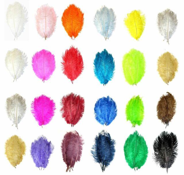 "100 Large Ostrich Filler Feathers, Spadones for Economical Displays 20""-30"" Long"