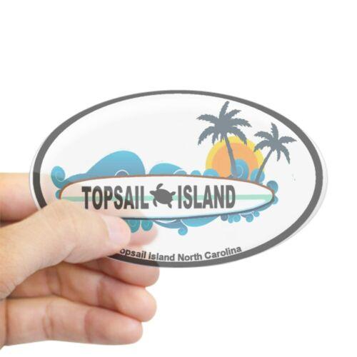 Oval CafePress Topsail Island NC Surf Design Sticker 470307788