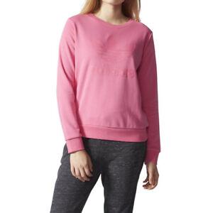 adidas Originals Womens Trefoil Logo Crew Sweatshirt Jumper