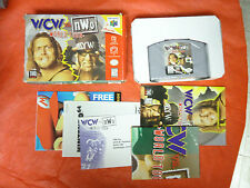 WCW vs. NWO: World Tour (Nintendo 64 1997) N64 COMPLETE w/ Box manual game WORKS