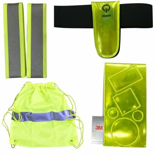 Be Spotted In Dark 4pcs Of Bike Reflective Bundle