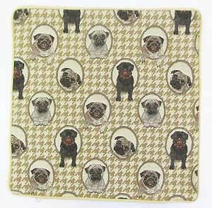 Pug-Dog-Design-Tapestry-Cushion-Cover-Signare-Set-of-2-Matching-Covers
