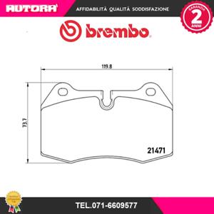 P06018-Kit-pastiglie-freno-a-disco-ant-Bmw-Honda-Maserati-MARCA-BREMBO