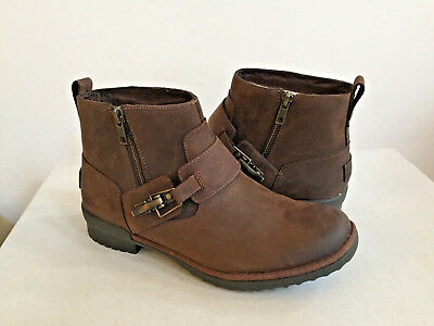 UGG CHEYNE COCONUT SHELL LEATHER ANKLE