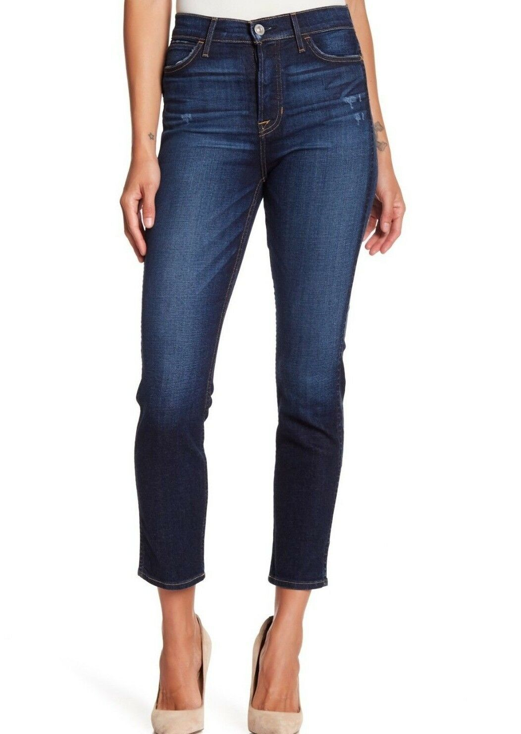 215 NWT HUDSON Sz25 HOLLY ANKLE HIGH RISE SKINNY STRETCH JEANS CORRUPT blueE