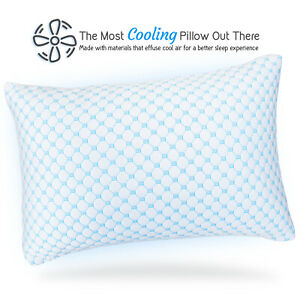 Memory-Foam-Cooling-Pillow-Reducing-Heat-and-Moisture-Ice-Silk-and-Gel-Infused