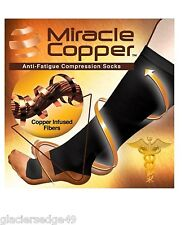 """NEW"" Miracle Copper Socks Anti Fatigue Compression Socks UNISEX L/XL Size"