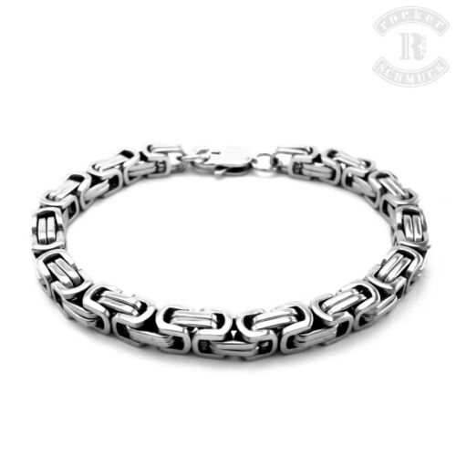Edelstahl Armband Königsarmband Königskette Rocker Biker A019
