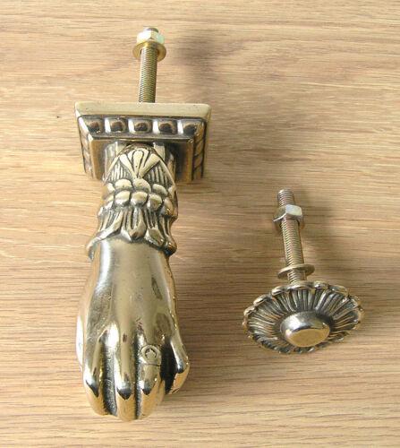 Door Knocker Polished Finish Hand Design Italian Cast Brass