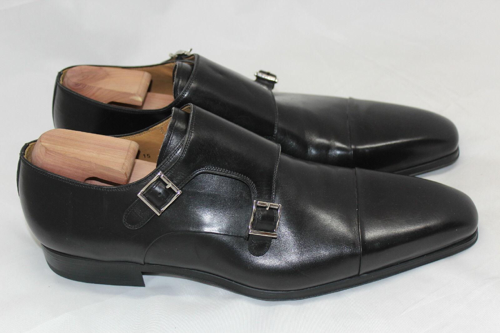 Magnanni'Gaumet 'Doppia  Strap Monk Dress scarpe Lofer Buckle nero 15 M (Q37)  vendita calda online