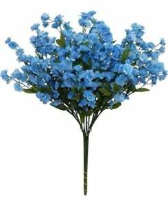 12 babys breath spray light blue silk flowers wedding bouquet image is loading 12 baby 039 s breath spray light blue mightylinksfo