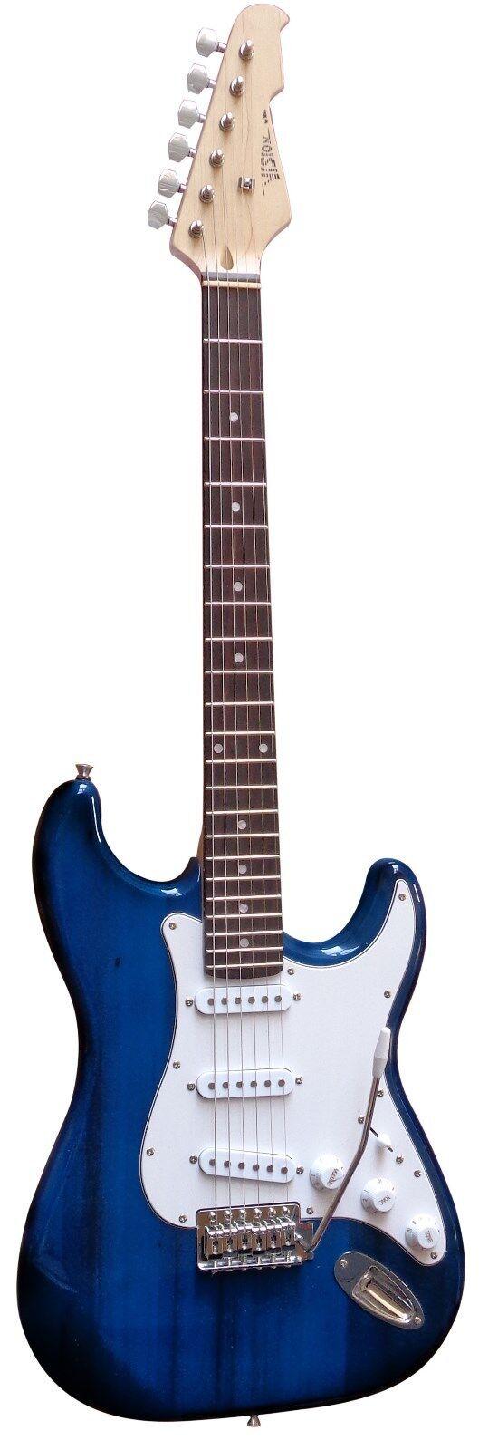 E-Gitarre ST5 dunkelblau, Set - Stimmgerät -Verstärker -Verstärker -Verstärker GW15,Tasche,Band,Kabel eb3e07