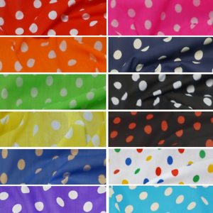 Polycotton-Fabric-20mm-Polka-Dots-Spots-Material