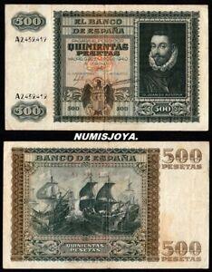 Año 1940. 500 Pesetas Madrid 9 De Enero Juan De Austria. Serie A. Nº 2.439.419. 100% De MatéRiaux De Haute Qualité