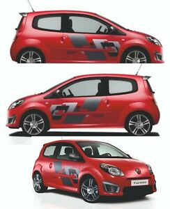 Renault-twingo-RS-Kit-complet-Stickers-autocollants-adhesifs-voiture-automobile