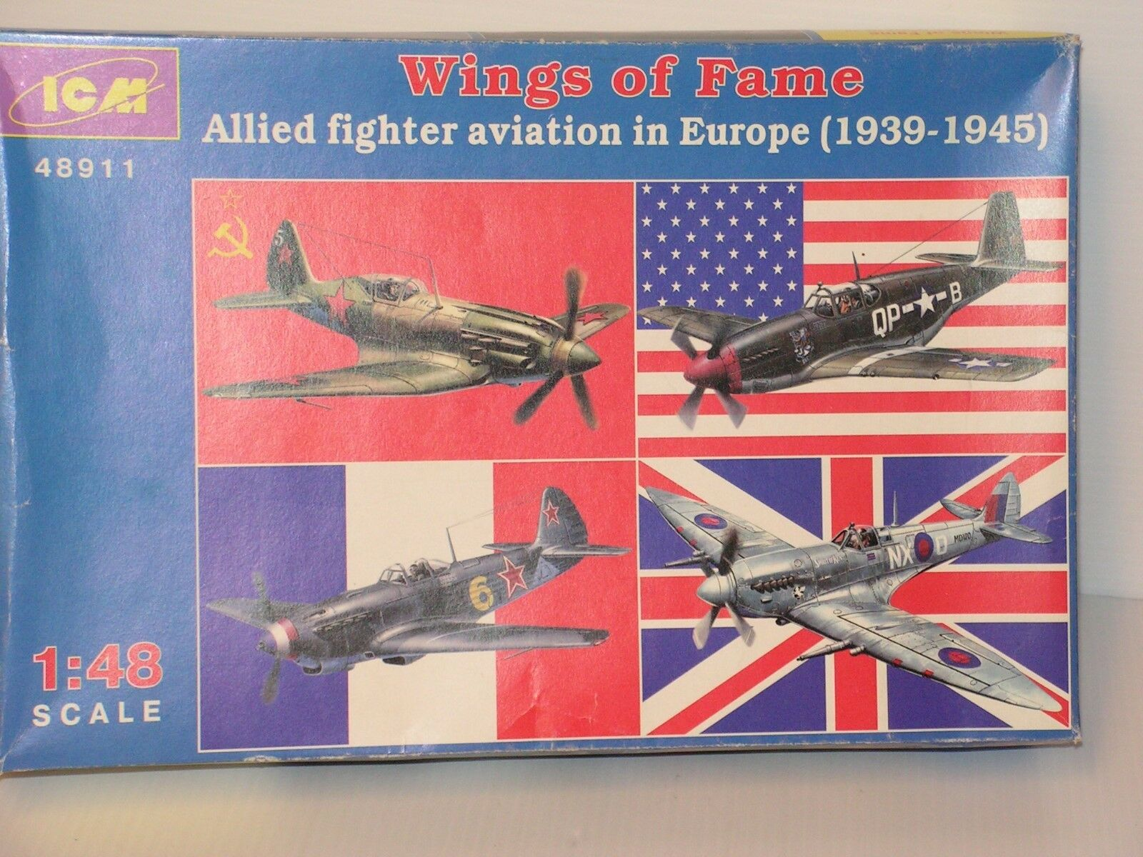 ICM  48 WINGS OF FAME ALLIED FIGHTERS EUROPE 1939 1945 OPEN