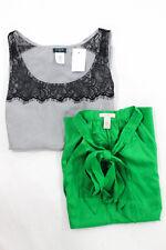 J Crew Multi-Color Lot 2  Silk Tank Top Camisole Blouse Size 2