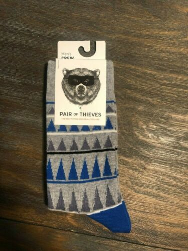 New Pair of Thieves Men Crew Socks-Pattern-Multi-colored 4 Pack Size 8-12