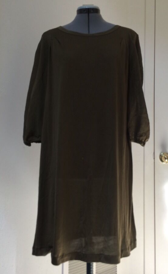 Madewell Greeen Shirtdress by Hi-Line Sz  L
