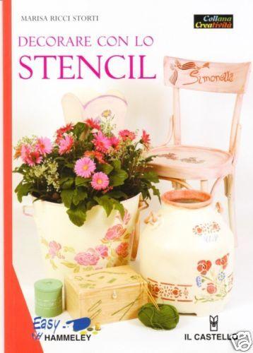 """STENCIL - Manuale libro """"Decorare con lo stencil"""""""