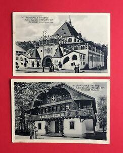 2-x-Anlass-AK-DRESDEN-1911-Intern-Hygiene-Ausstellung-Pavillon-46358