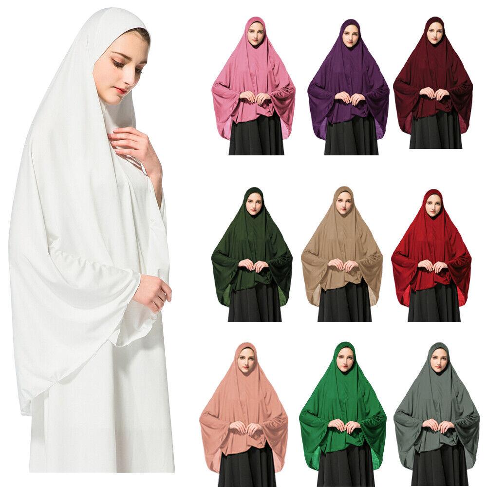 Muslim Women Prayer Dress Hijab Long Scarf Abaya Large Overhead Jilbab Clothing