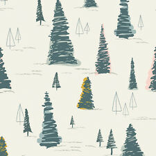 Art Gallery ~ Heartland Pinetree Fabric / quilting christmas tree forest scandi