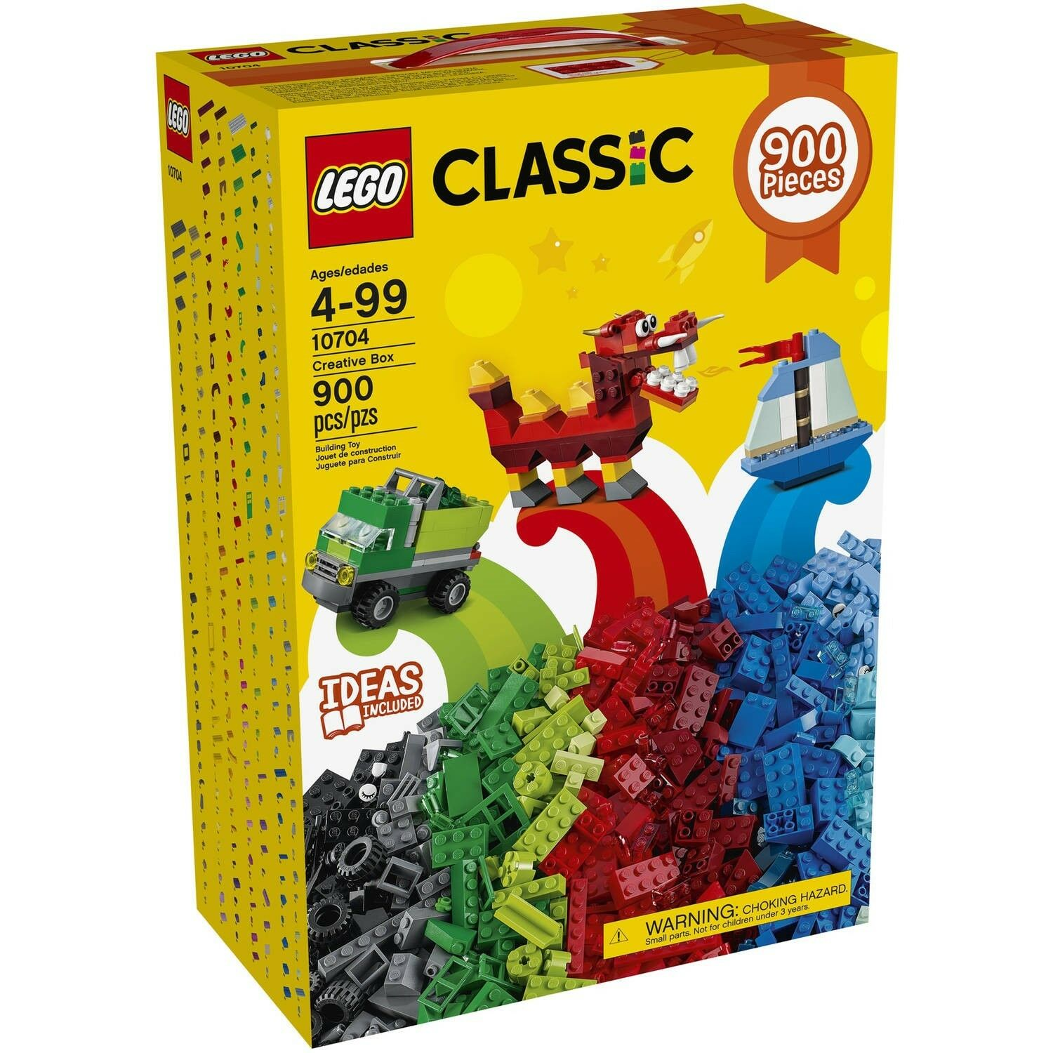 LEGO CLASSIC 900 PIECES SET NEW 10704 CREATIVE BOX IDEAS INCLUDED