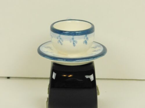 Set of 8 Department 56 Tea Cup /& Saucer Napkin Rings Holders Blue White Flowers