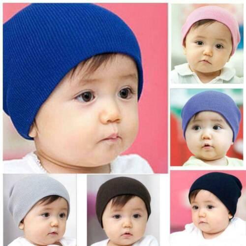 Newborn Baby Infant Boy Girl Toddler Comfy Soft Knitting Cotton Cap Beanie Hat