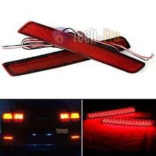 2 Red Lens LED Bumper Reflectors LED taillight brake lights 13+ Chevrolet Malibu